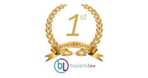 Boyletts Law first anniversary image