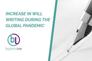 Fountain pen signing Will image for increase in will writing during the global pandemic blog