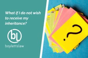 Picture of question mark cards for what if i do not wish to receive my inheritance blog
